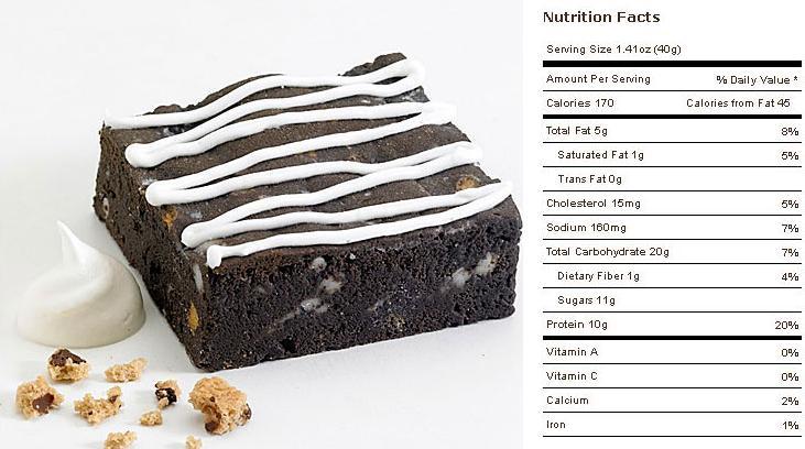 Muscle Brownie Nutrition Cookies Cream Muscle Brownie