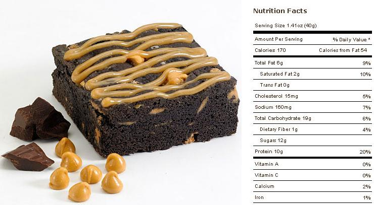 Muscle Brownie Nutrition Peanut Butter Muscle Brownie