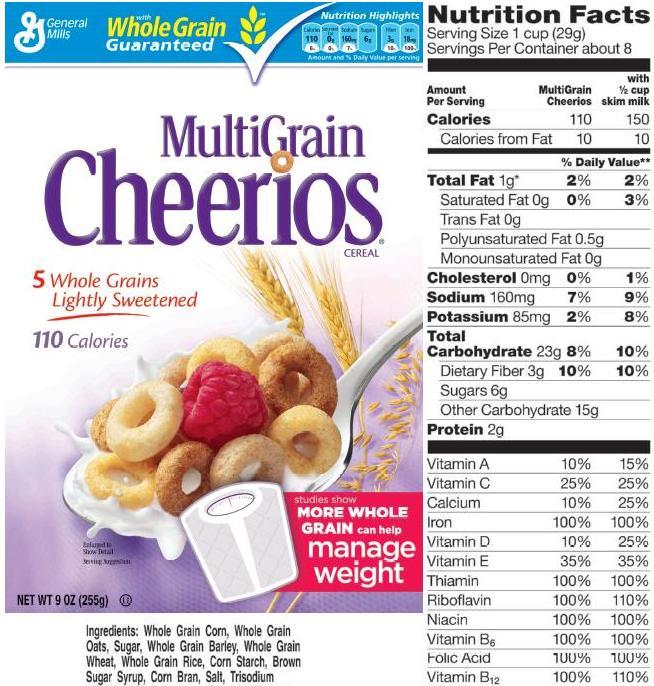 Multigrain Cheerios And The Biggest Loser!
